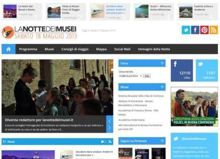 La Notte dei Musei Portale italiano dell'evento
