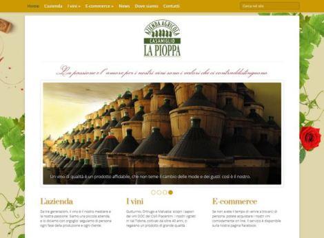 La Pioppa Vini website/eCommerce